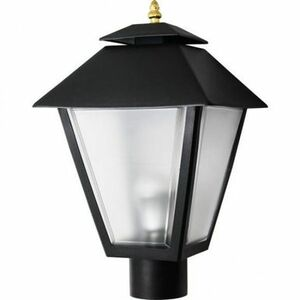 70W HPS Post Top Black Square Coach Lantern Pole Mount Light
