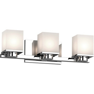 Volume V1153-3 Sharyn 3-Light 8 in. Chrome Indoor Bathroom Vanity Wall Sconce
