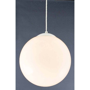 "Volume V1845-6 One Light Foyer 14"" Height Pendant with Opal Glass Shade"