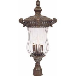 Volume V8546-54 Melrose 3-light Amulet Bronze Outdoor Post Mount