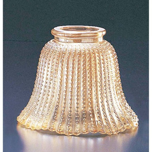 """Volume GS-07 3 3/4"""" Bell-Shaped Amber Bead Glass"""