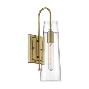 Nuvo Lighting 60-6859 Clear Glass Bent Arm Wall Sconce