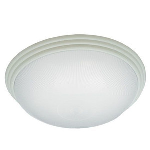 "16"" Translucent Frosted Ribbed Acrylic Lens Decorative White Ring Medium Indoor Ceiling Light 16W LED 3000K"
