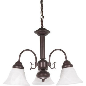 Nuvo 60-184 Old Bronze 3 Light Ceiling Mount Fixture