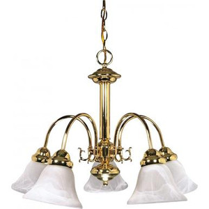 Nuvo 60-185 Polished Brass 5 Light Ceiling Mount Fixture