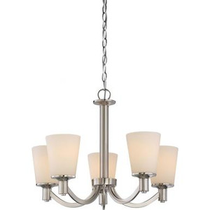Nuvo 60-5825 Brushed Nickel 5 Light Ceiling Mount Fixture