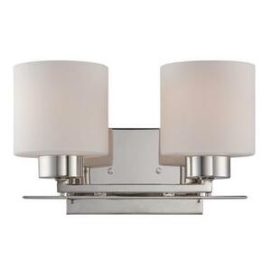 Nuvo 60-5202 Polished Nickel 2 Light Wall Mount Fixture