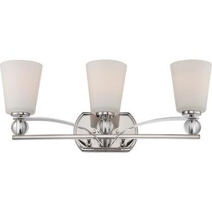 Nuvo 60-5493 Polished Nickel 3 Light Wall Mount Fixture
