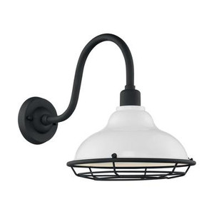 Nuvo 60-7022 Gloss White and Textured Black Wall Mount Fixture