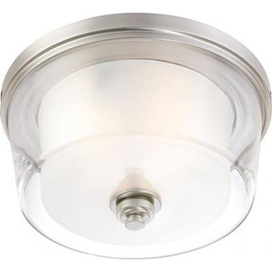 Nuvo 60-4652 Brushed Nickel 3 Light Ceiling Mount Fixture