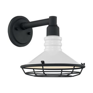 Nuvo 60-7051 Gloss White and Textured Black Wall Mount Fixture