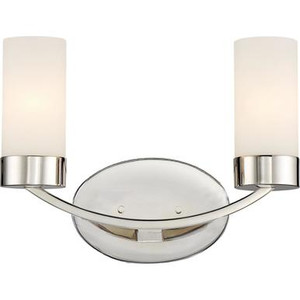 Nuvo 60-6222 Polished Nickel 2 Light Wall Mount Fixture