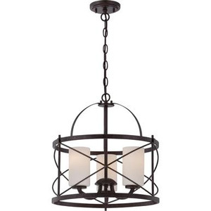 Nuvo 60-5337 Old Bronze 3 Light Ceiling Mount Fixture