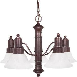 Nuvo 60-191 Old Bronze 5 Light Ceiling Mount Fixture