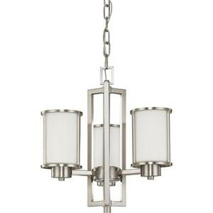 Nuvo 60-2851 Brushed Nickel 3 Light Ceiling Mount Fixture