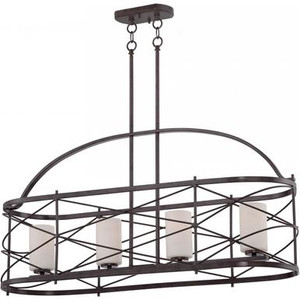 Nuvo 60-5338 Old Bronze 4 Light Ceiling Mount Fixture