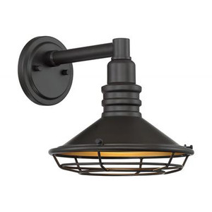 Nuvo 60-7041 Dark Bronze and Gold Wall Mount Fixture