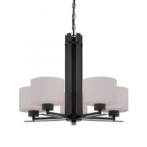 Nuvo 60-5305 Aged Bronze 5 Light Ceiling Mount Fixture
