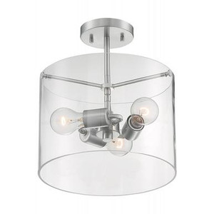 Nuvo 60-7178 Brushed Nickel 3 Light Ceiling Mount Fixture