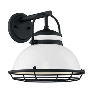 Nuvo 60-7082 Gloss White and Textured Black Wall Mount Fixture