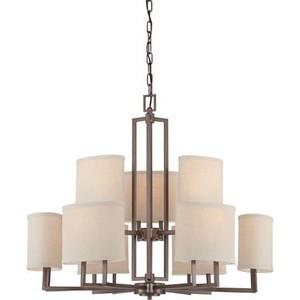 Nuvo 60-4859 Hazel Bronze 9 Light Ceiling Mount Fixture