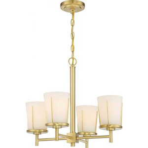 Nuvo 60-6534 Natural Brass 4 Light Ceiling Mount Fixture