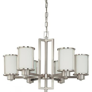 Nuvo 60-2853 Brushed Nickel 6 Light Ceiling Mount Fixture