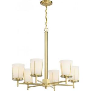 Nuvo 60-6536 Natural Brass 6Light Ceiling Mount Fixture