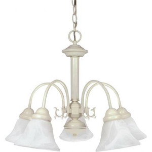 Nuvo 60-187 Textured White 5 Light Ceiling Mount Fixture