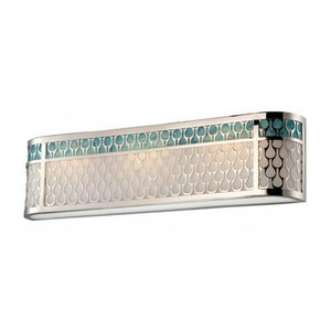Nuvo 62-144 Polished Nickel 3 Light Wall Mount Fixture