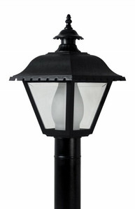 Wave Lighting 270T Outdoor Black Post Lantern Light Fixture with Clear Lens
