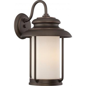 Nuvo Lighting 62-632 Outdoor Bronze Bent Arm Lantern