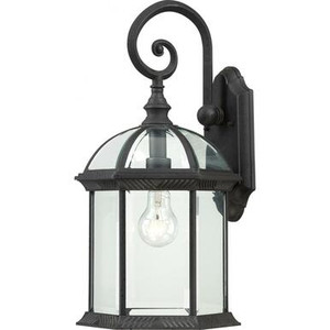 "Nuvo Lighting 60-4966 "" Outdoor Wall Lantern with Glass and Metal"
