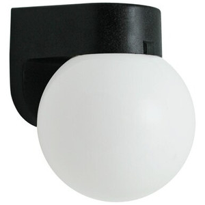 Wave Lighting 212 Outdoor Plastic White Globe Wall Light