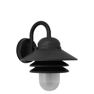 Black Nautical Plastic Exterior Wall Light Lantern