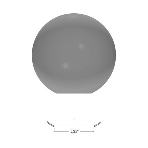 """Replacement Smoke 16"""" Outdoor Acrylic Light Globe 