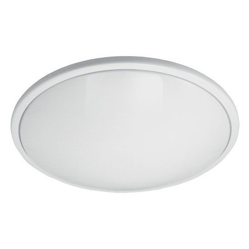 "17"" Medium Round Low Profile Ceiling Light White Rim 23W LED 4000K"