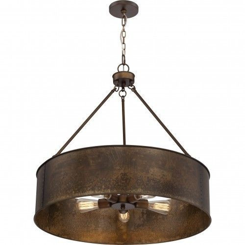 Nuvo Lighting 60-5895 Kettle Weathered Brass 5 Light Oversized Pendant With 60w Vintage Lamps Inc.