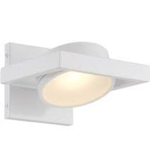 Nuvo Lighting 62-992 White 1 Light LED Pivoting Head Wall Sconce