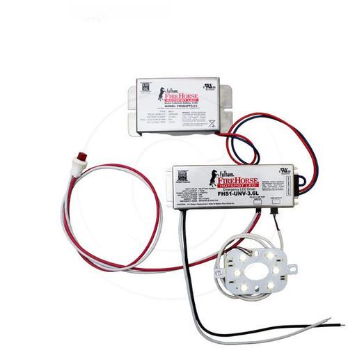 6W LED Emergency Driver Battery Backup Light Fixture Kit Array