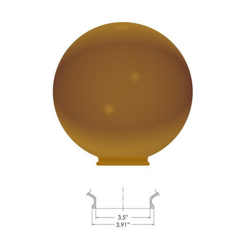 """Replacement Bronze 10"""" Outdoor Acrylic Post Globe Cover 