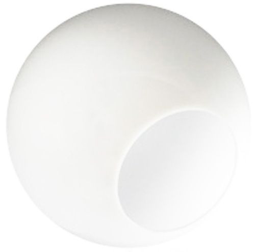 """White 18"""" Plastic Light Globe with Neckless Opening"""