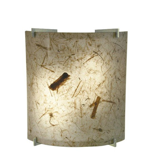 23W LED Natural Teak Acrylic Curved Wall Sconce Ultra Chrome Accents 3000K