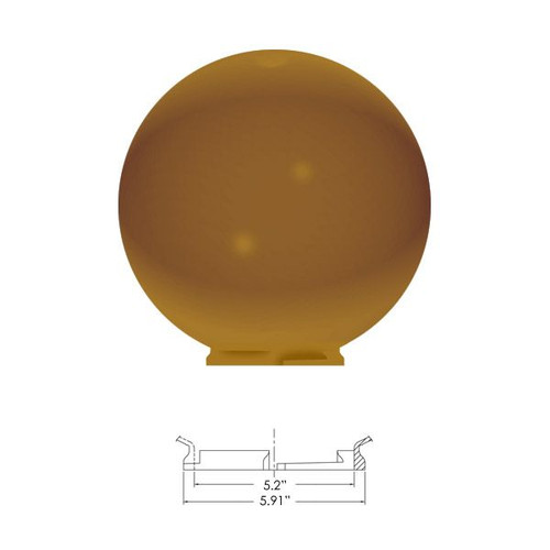 "Replacement Bronze 14"" Outdoor Acrylic Post Globe Cover 