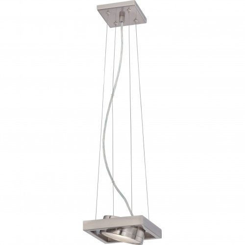 Nuvo Lighting 62-997 Brushed Nickel 1 Light LED Pivoting Head Pendant
