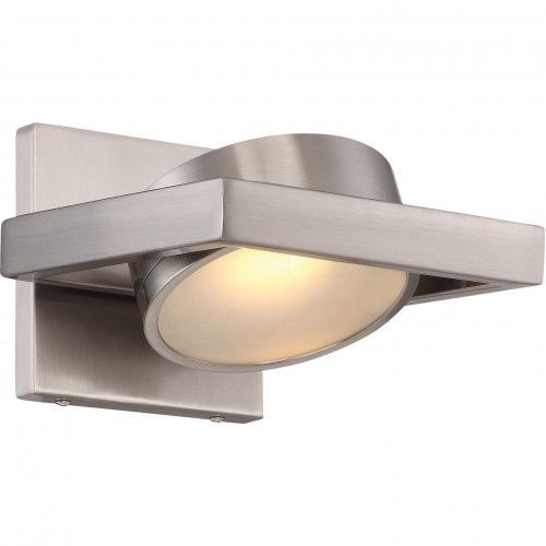 Nuvo Lighting 62-994 Brushed Nickel 1 Light LED Pivoting Head Wall Sconce