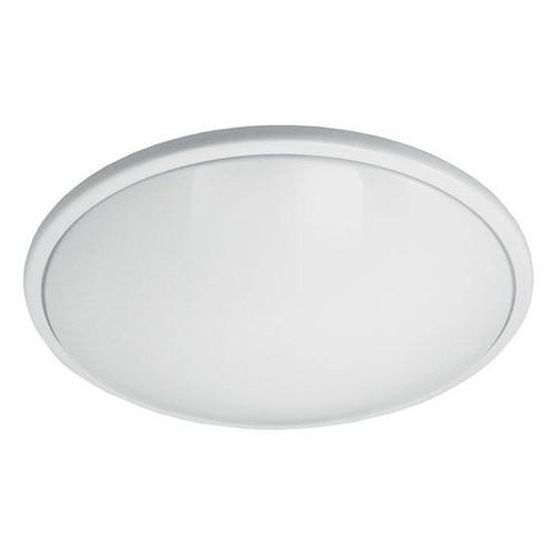 "17"" Medium Round Low Profile Ceiling Light White Rim 14W LED 4000K 1"