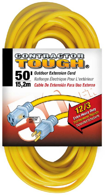 Bergen OC50123LT 50ft 12/3 Lighted Ends Extension Cord