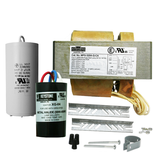 Keystone MPS-320A-Q-KIT 320W M132 Pulse Start MH Ballast 4 Tap