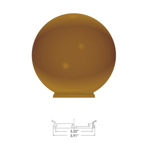 """Replacement Bronze 16"""" Outdoor Acrylic Post Globe Cover 